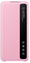 Samsung Clear View Cover pre Samsung Galaxy S20, ružová