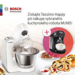 Kávovar ako darček ku kuchynským robotom Bosch