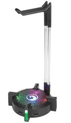 Marvo HZ-04 stojan na slúchadlá, USB hub 3.0