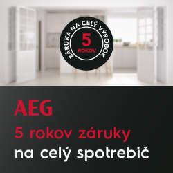 5-ročná záruka na spotrebiče AEG