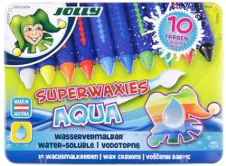 Jolly Superwaxies Aqua 10 voskových pasteliek