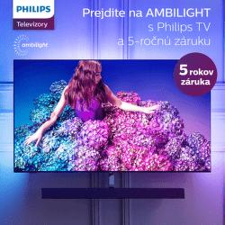 5-ročná záruka na TV Philips