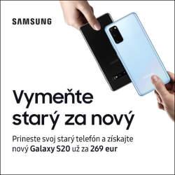 Získajte k Samsung Galaxy S20 až do 630€ za váš starý telefón