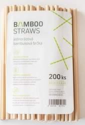 Bamboo Straws BS0823 bambusové slamky 200ks