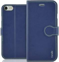 Fonex Identity knižkové puzdro pre Apple iPhone SE 2020/8/7, modrá