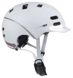 Safe-Tec SK8 L Smart helma biela
