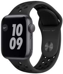 Apple Watch SE Nike 40 mm vesmírne sivý hliník s antracitovo čiernym športovým remienkom Nike