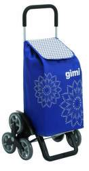 Gimi Tris Floral nákupný vozík modrý