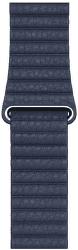 Apple Watch 44 mm kožený remienok hlbinne modrý L