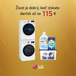 Darčeky v hodnote až do 115 € k sušičkám LG