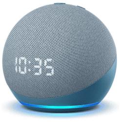 Amazon Echo Dot 4. gen s hodinami Twilight Blue