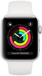 Renewd - Obnovené Apple Watch Series 3 38mm strieborno-biela