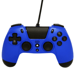 Gioteck VX4 Premium Wired Controller 3,5mm Audio port (PS4/PC) modrý