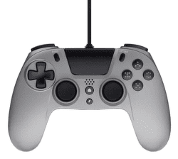 Gioteck VX4 Premium Wired Controller 3,5mm Audio port (PS4/PC) strieborný