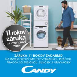 11-ročná záruka na motor spotrebičov Candy