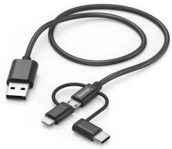 Hama 183304 3v1 USB-A / micro USB 1,5 m čierny