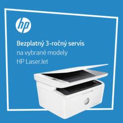 3-ročný servis na tlačiarne HP LaserJet a Neverstop