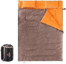Naturehike spací vak pre 2 osoby 2400g hnedá/oranžová