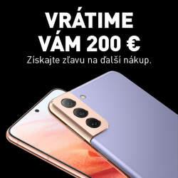 Vrátime vám 200 € z nákupu Samsung Galaxy S21 5G