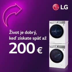 Cashback až do 200 € na práčky a sušičky LG