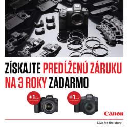 3-ročná záruka na bezzrkadlovky Canon