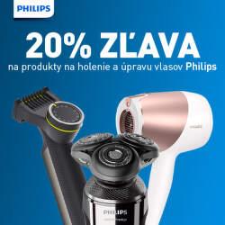 20% zľava na holenie a úpravu vlasov Philips