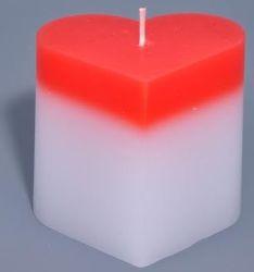 V14 Sviečka LED srdce, RGB