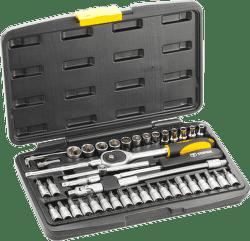 """TOPEX Nástrčné kľúče 1/4 """"CrV súprava 46 ks"""