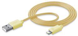 Cellular Line Style&Color lightning kábel (žltý)