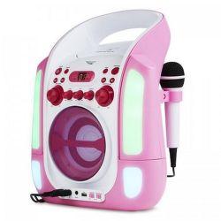 Auna Kara Illumina ružový karaoke systém