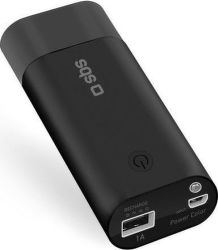 SBS powerbanka 5000 mAh s baterkou, čierna