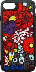 Mobilnet gumené puzdro pre iPhone 7/8 kvety, čierna