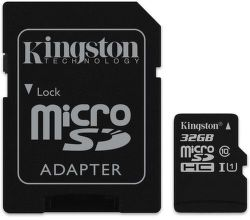 Kingston microSDHC Canvas Select 32 GB UHS-I + SD adaptér