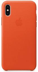 Apple kožený kryt pre iPhone X, jasne oranžový