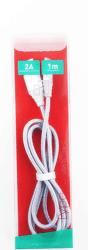 Omega Lightning - USB kábel 1,8A 1m, strieborná