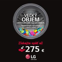 Cashback až do 275 € na práčky LG