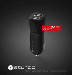 Strudo Pro Sport autonabíjačka 2x USB, čierna