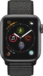 Apple Watch Series 4 40mm vesmírne šedý hliník/čierny prevliekací športový remienok