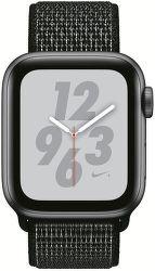 Apple Watch Series 4 Nike+ 40mm vesmírne šedý hliník/čierny prevliekací športový remienok Nike