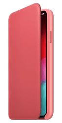 Apple kožené puzdro Folio pre Apple iPhone XS Max, pivonkovo ružová