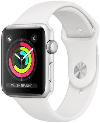 Apple Watch Series 3 38mm (strieborný hliník/biely športový remienok)