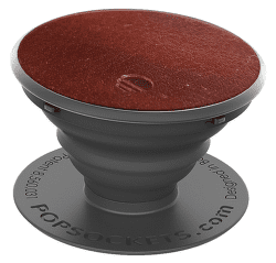 PopSockets držiak na smartfón, Brown Vegan Leather
