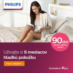 90 dní záruka vrátenia peňazí na IPL epilátory Philips