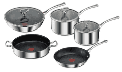 Tefal E475S544 Reserve Collection Triply sada hrncov a panvíc (8ks)