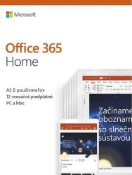 Microsoft Office 365 Home SK (1 rok)