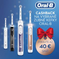 Cashback až do 40 € na zubné kefky Oral-B