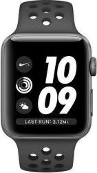 Apple Watch Series 3 Nike+ 38 mm, vesmírne sivý hliník a čierny/antracitový športový remienok Nike