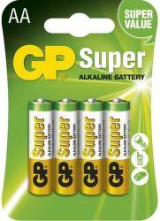 GP Super LR6 (AA), 4 ks Alkalické batérie