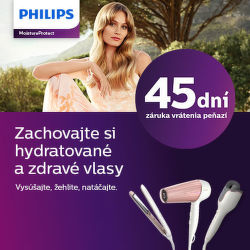 45 dní záruka vrátenia peňazí na starostlivosť o vlasy Philips