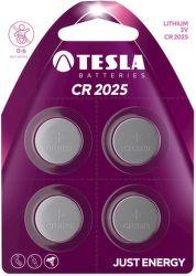TESLA CR2025 4ks, litiová batéria